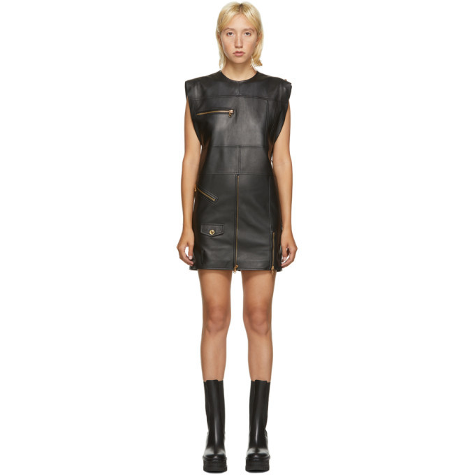 Photo: Versace Black Leather Jacket Dress