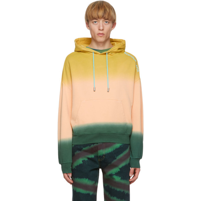 Photo: Eckhaus Latta Pink and Green Sunset Hoodie