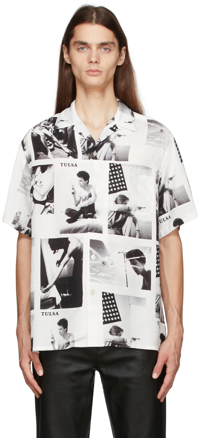 Photo: WACKO MARIA White Stie-lo Edition Tulsa Short Sleeve Shirt