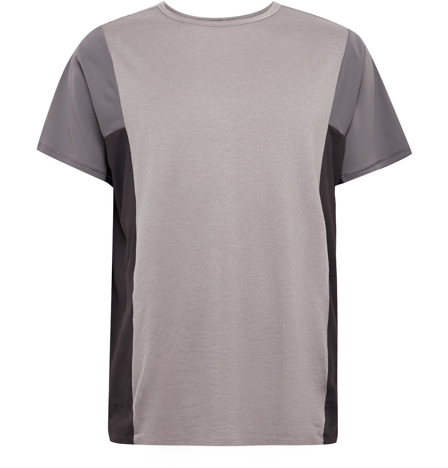 Photo: Lululemon - Robert Geller Take the Moment Colour-Block Mesh T-Shirt - Purple