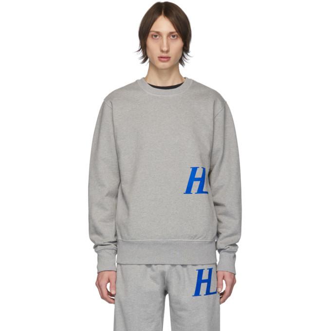 Photo: Helmut Lang Grey Monogram Crewneck Sweatshirt