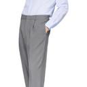 Giorgio Armani Grey Cupro Enzyme Trousers