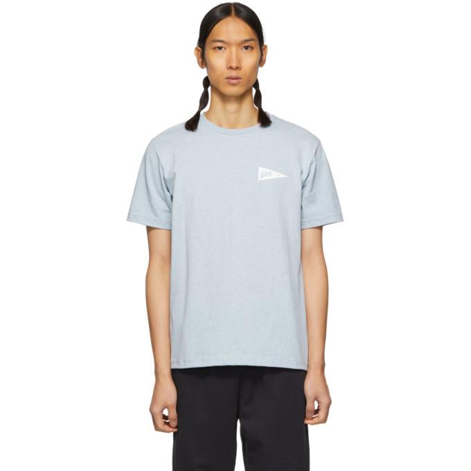 Photo: A.P.C. Blue Logo Barrington T-Shirt