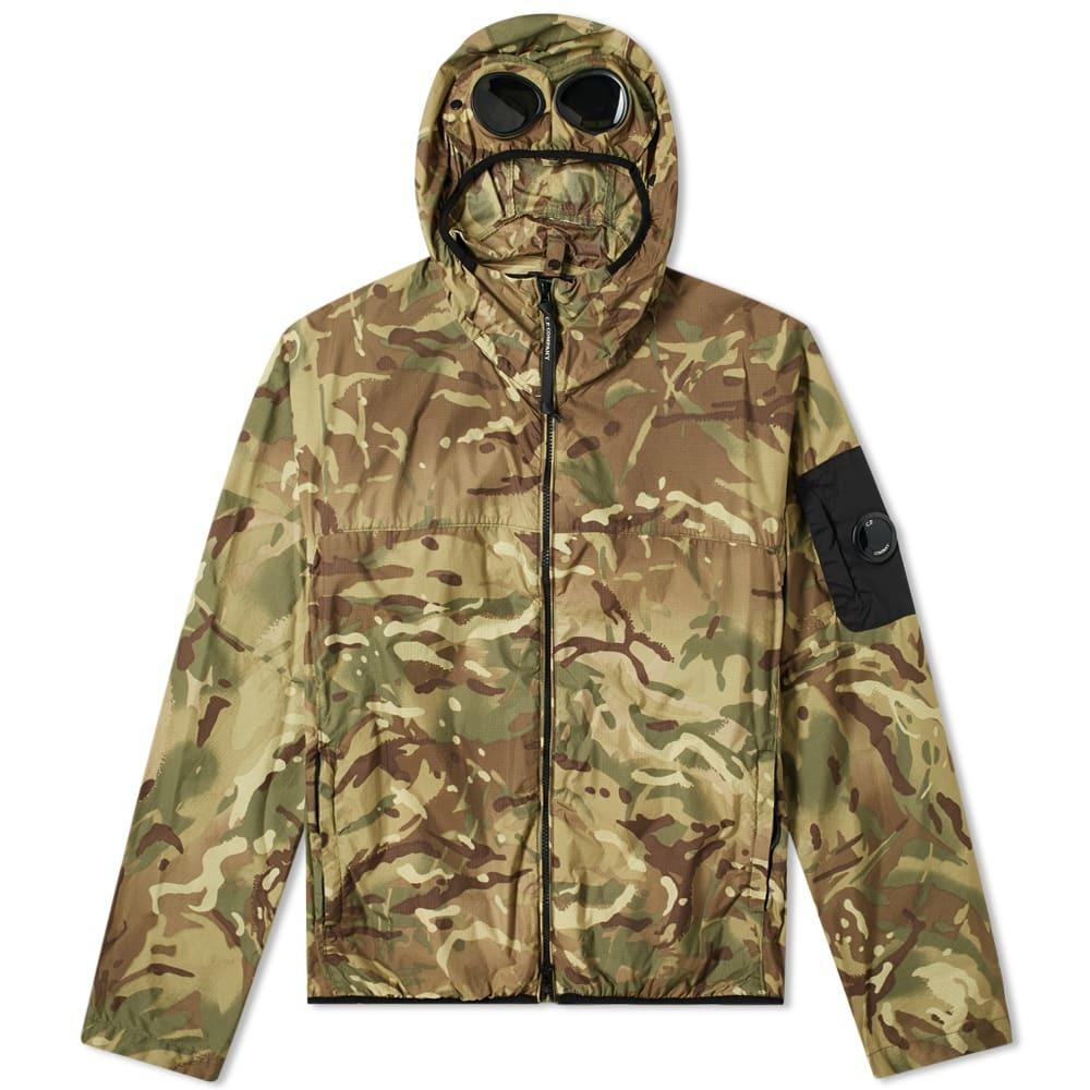 C.P. Company Camo Nylon Ripstop Hooded Goggle Jacket