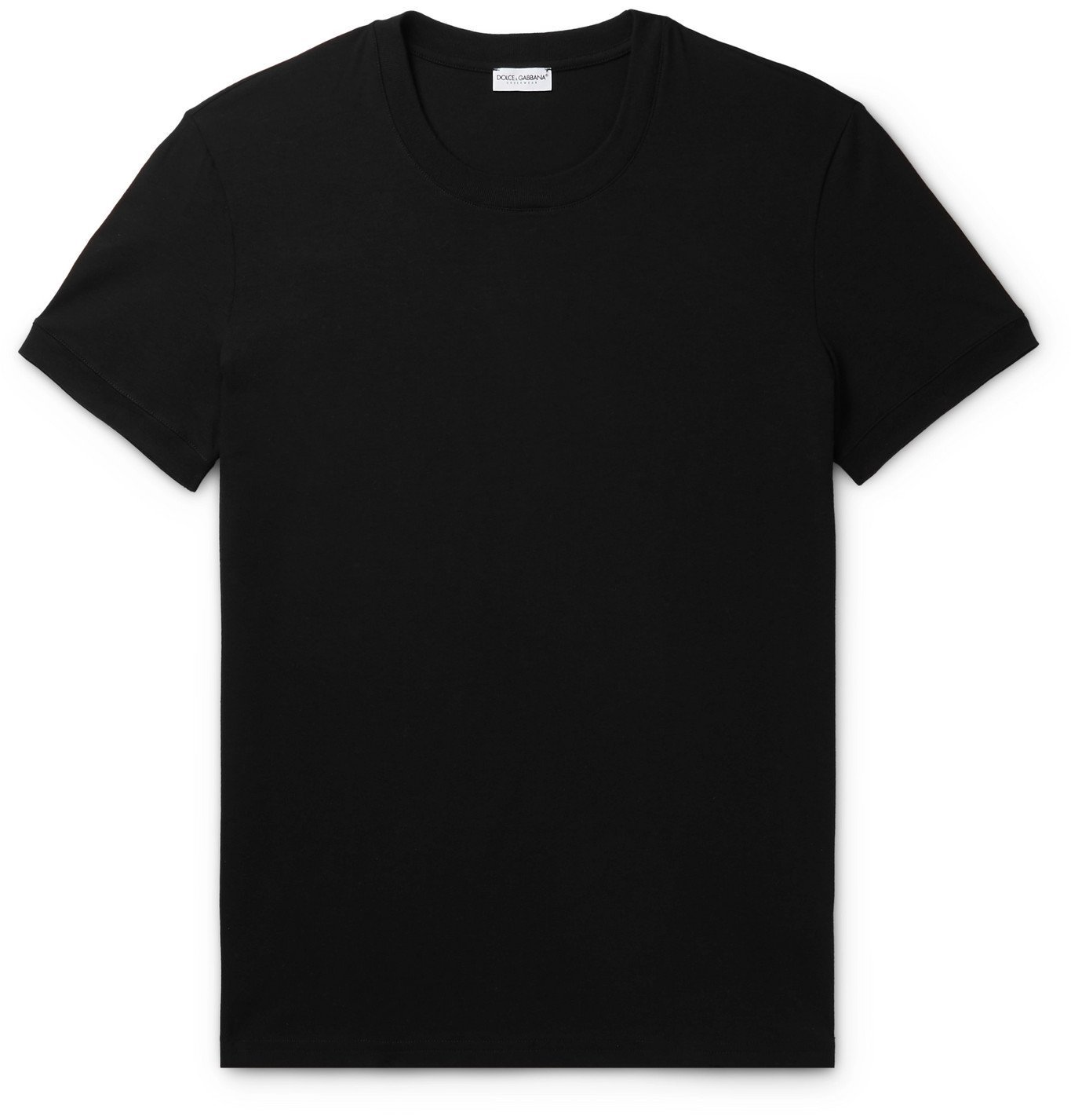 Photo: Dolce & Gabbana - Stretch-Cotton Jersey T-Shirt - Black