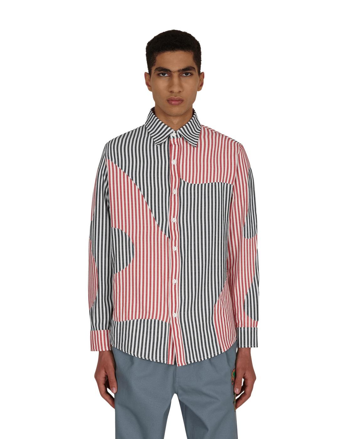 Photo: Brain Dead Patchwork Stripe Button Down Shirt Multi