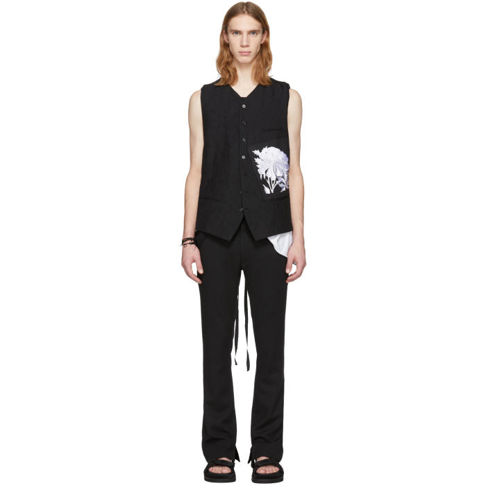 Photo: Ann Demeulemeester Black Peyton and Patch Peony Vest