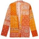 KAPITAL - Kakashi Printed Cotton-Blend Shirt - Orange