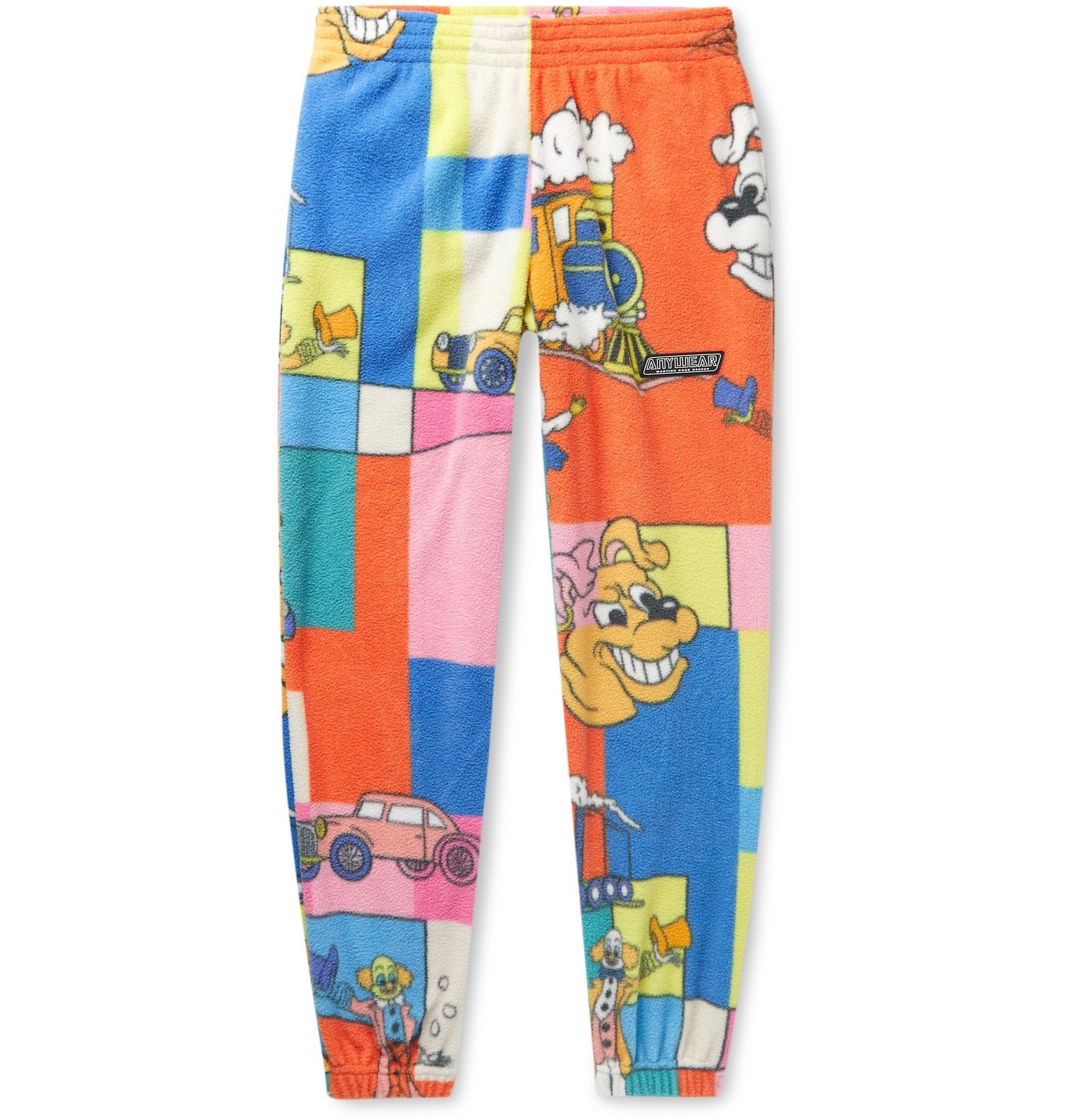 Martine Rose - Slim-Fit Tapered Printed Fleece Track Pants - Multi