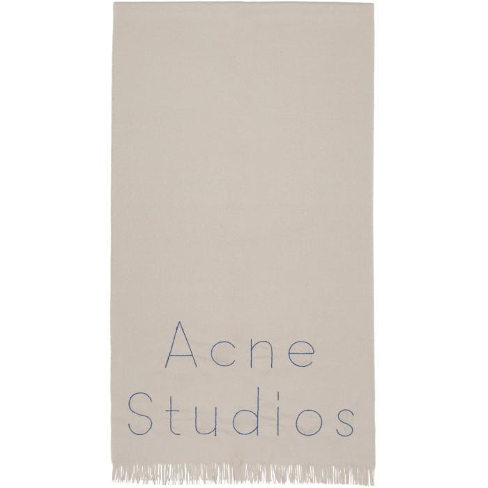 Photo: Acne Studios Grey Ontario Scarf