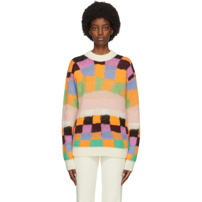 Photo: ERL Reversible Multicolor Alpaca and Mohair Sweater