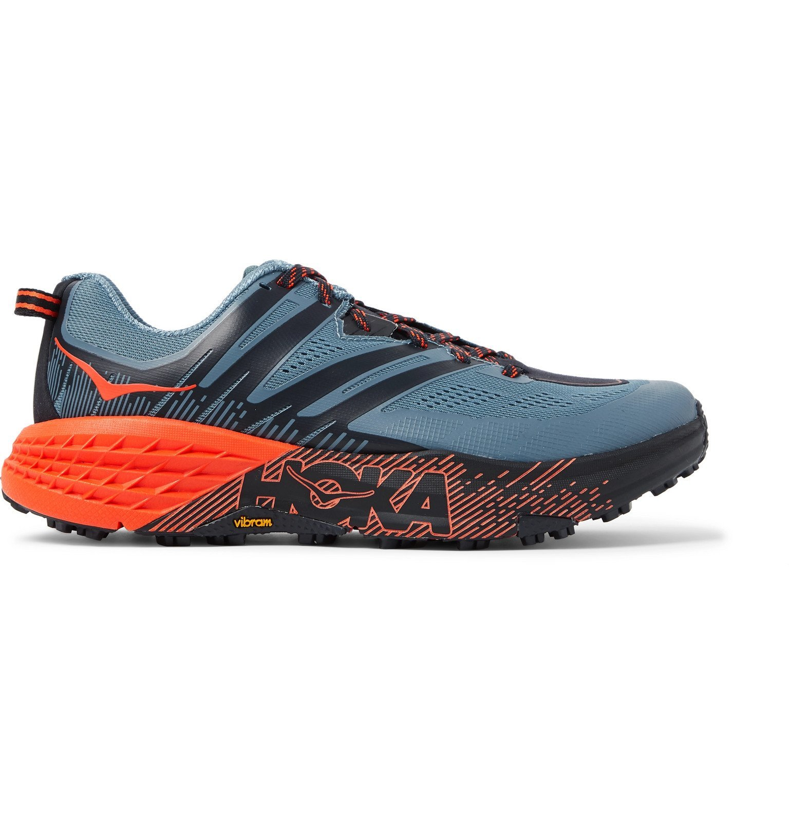 Photo: Hoka One One - Speedgoat 3 Rubber-Trimmed Mesh Trail Running Sneakers - Blue