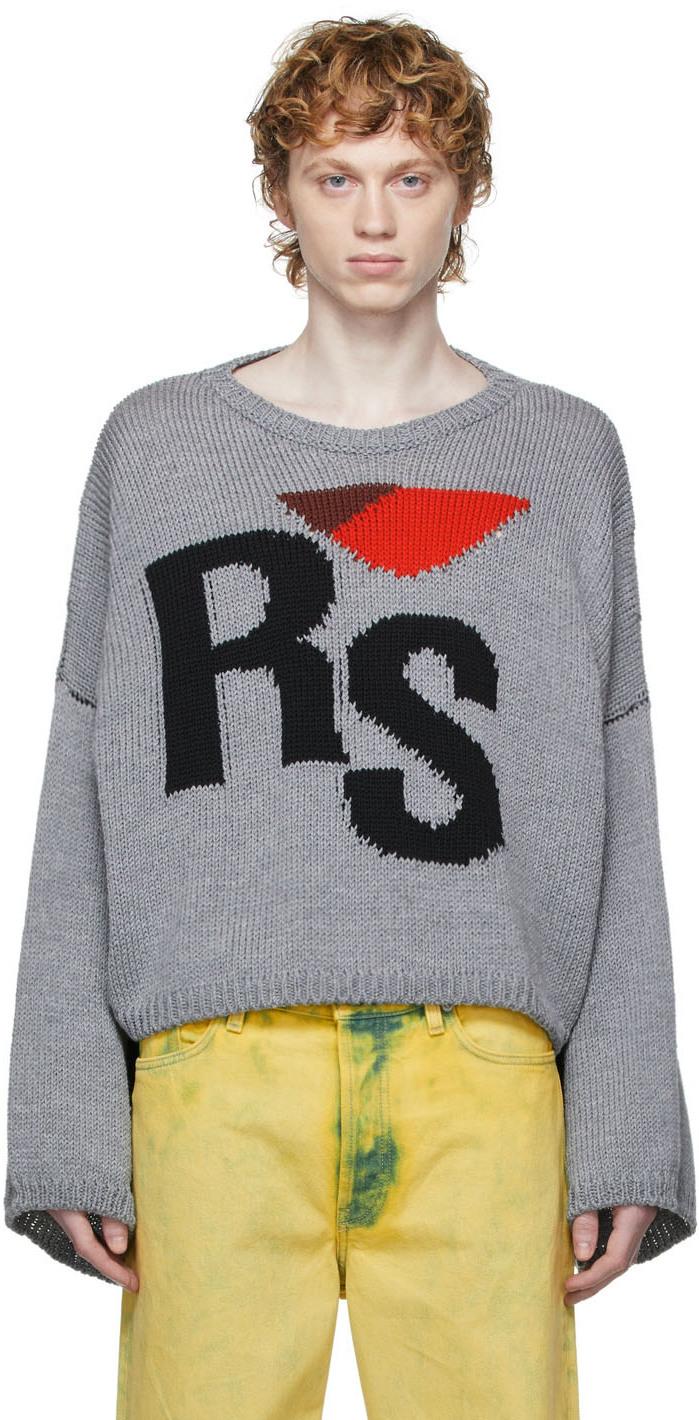 Photo: Raf Simons Cropped Logo Sweater