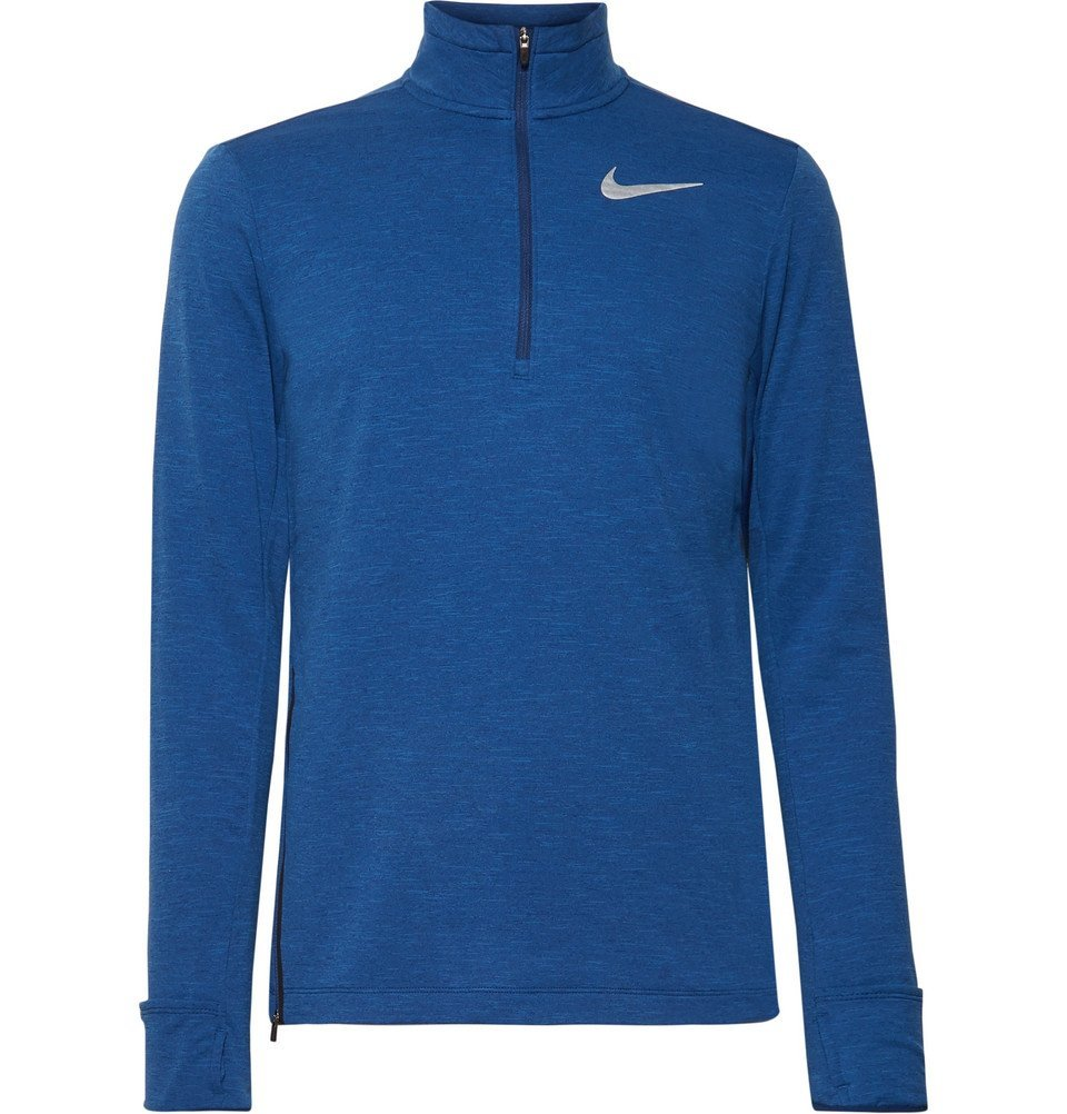 Nike Running - Element Mélange Dri-FIT Therma Sphere Half-Zip Top - Men - Blue
