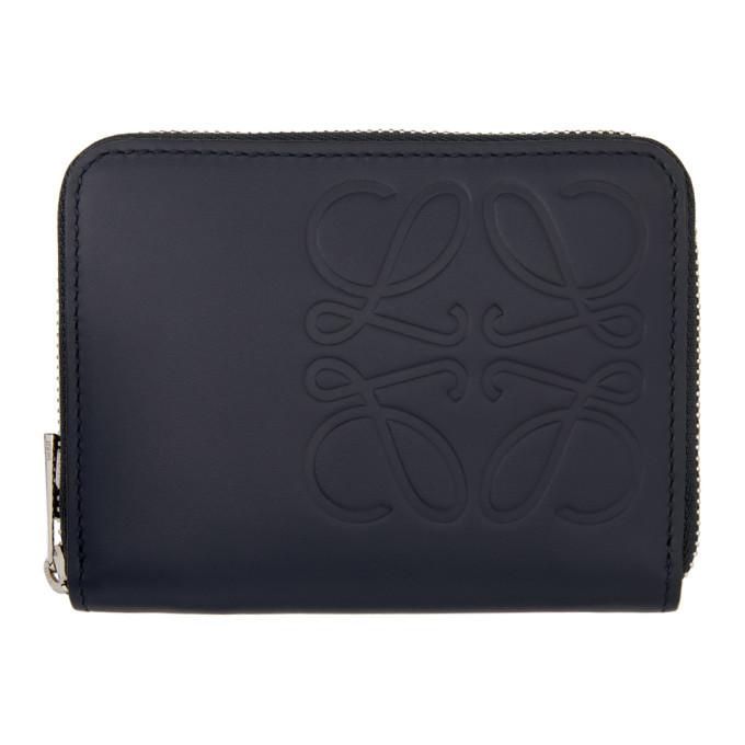 Photo: Loewe Navy Brand Zip Six Card Holder