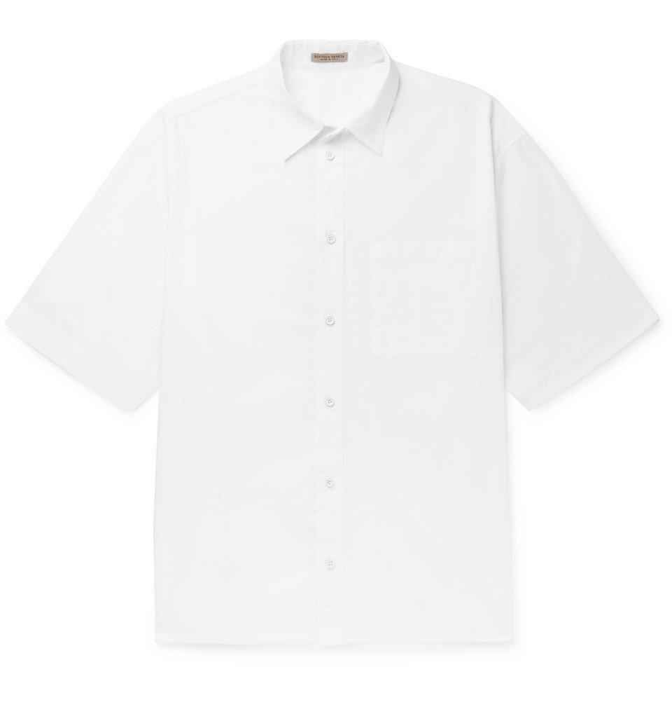 Photo: Bottega Veneta - Crinkled Cotton-Poplin Shirt - White