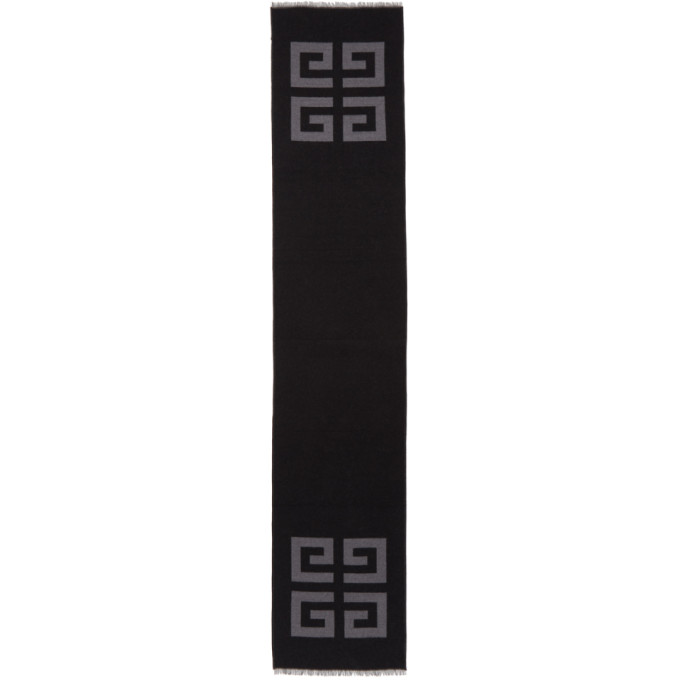 Photo: Givenchy Black and Grey 4G Scarf