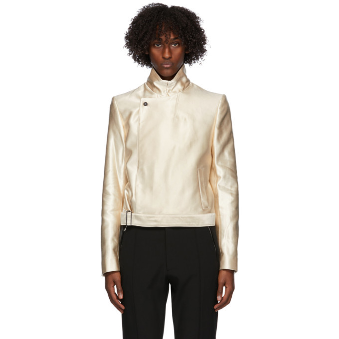 Photo: Ann Demeulemeester Off-White Satin Jacket
