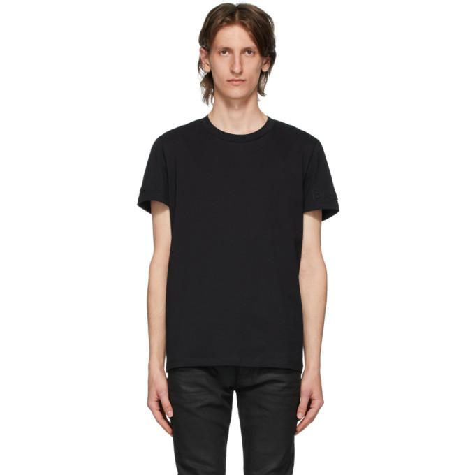 Photo: Balmain Black Embossed Logo T-Shirt