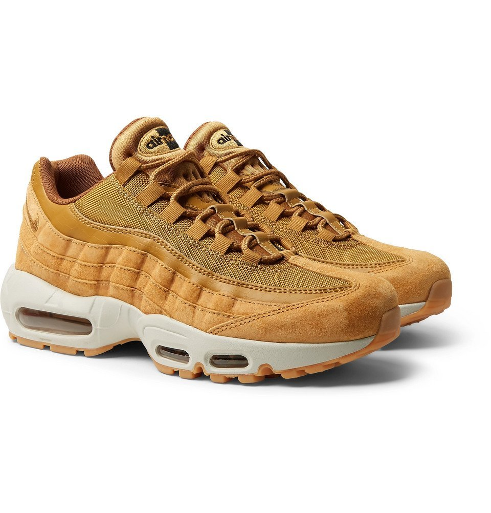 Nike - Air Max 95 SE Mesh, Leather And Suede Sneakers - Men ...