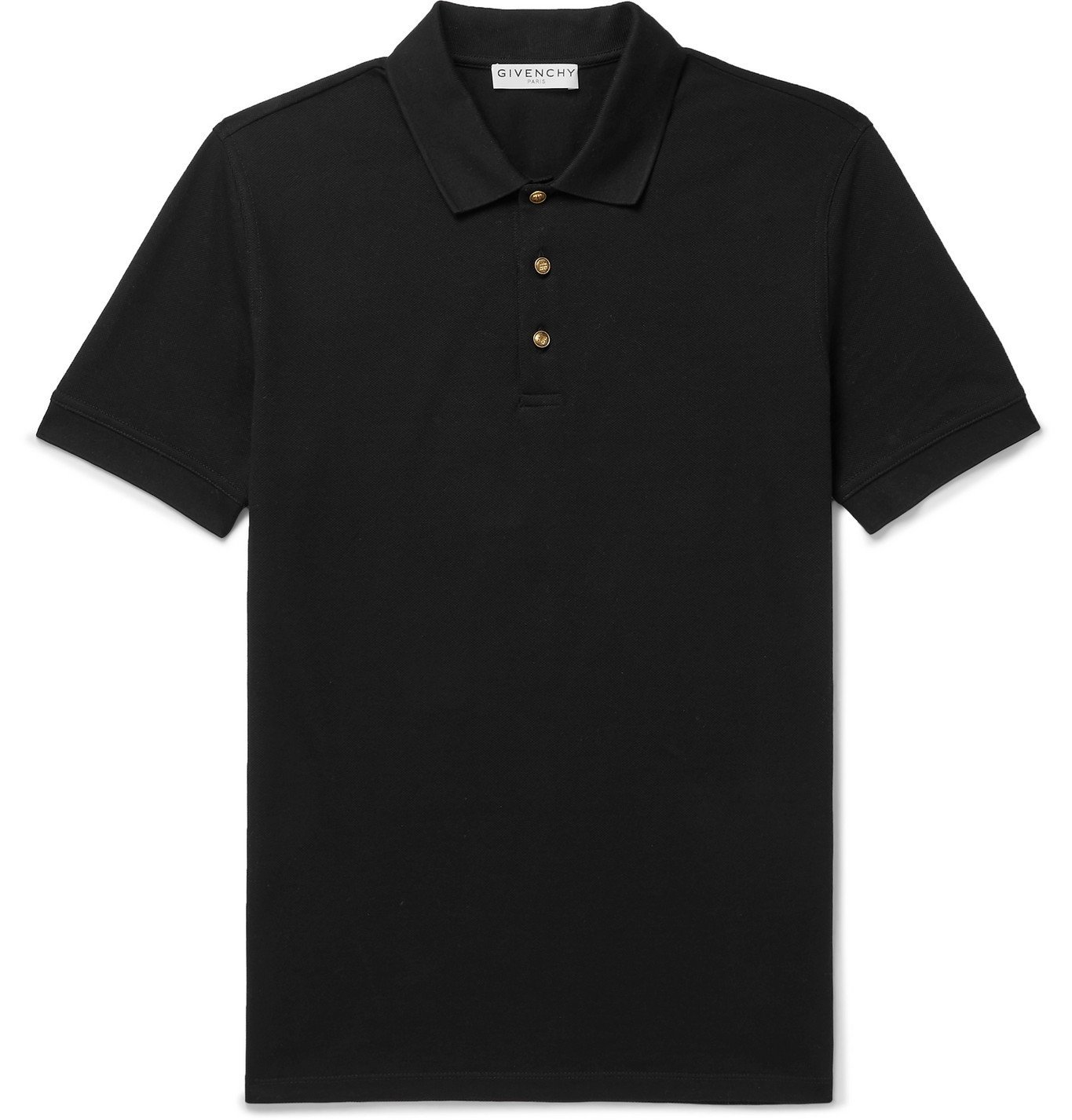 Photo: Givenchy - Slim-Fit Cotton-Piqué Polo Shirt - Black