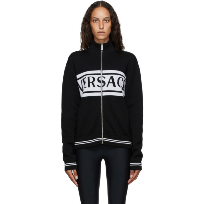 Photo: Versace Black and White Logo Sweater