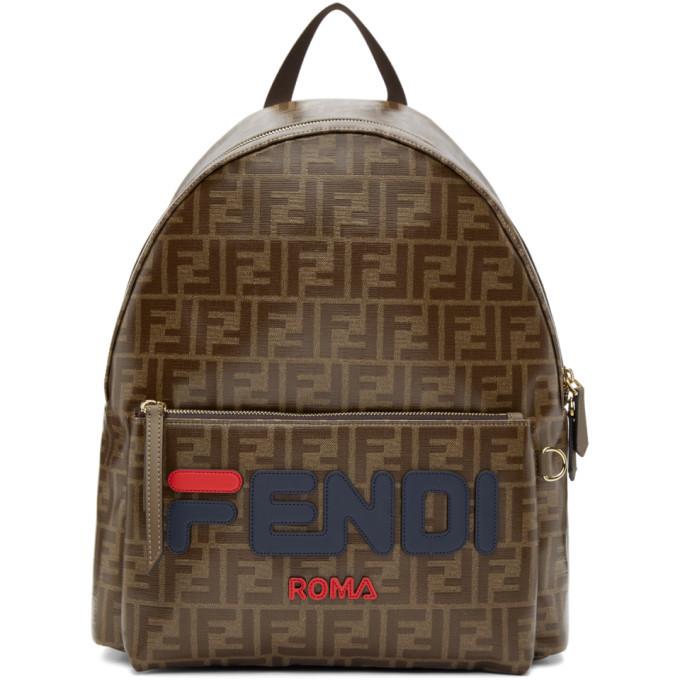 Photo: Fendi Brown Fendi Mania Backpack