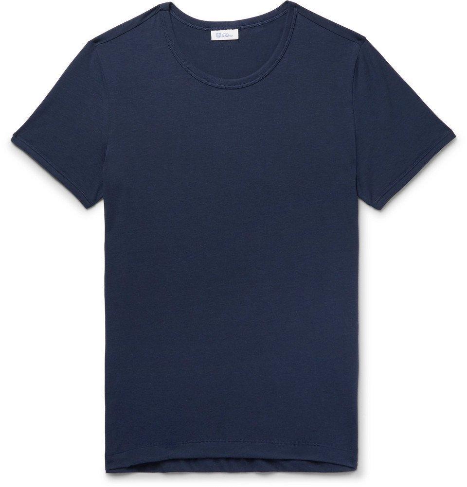 Schiesser - Lorenz Slim-Fit Stretch Cotton and Modal-Blend T-Shirt - Men - Navy