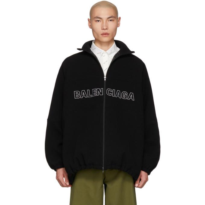 Photo: Balenciaga Black Wool Tracksuit Jacket