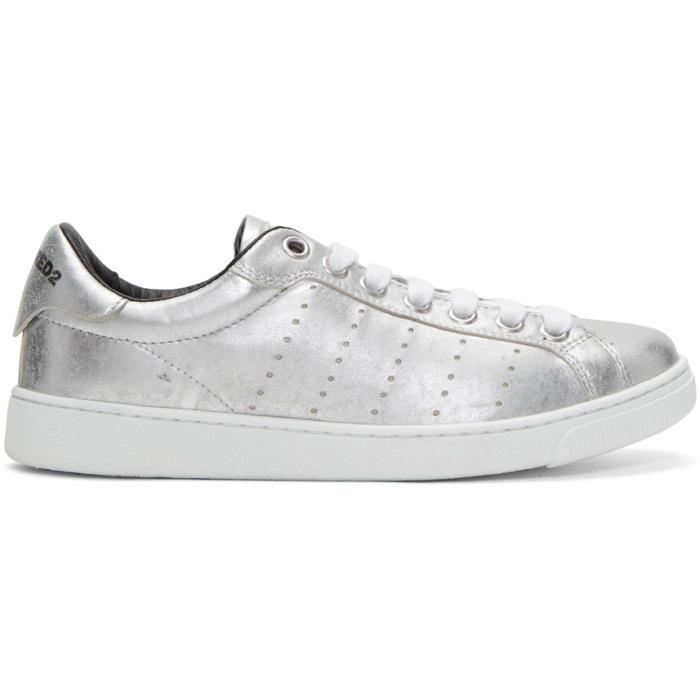 24c82e8a8cd Dsquared2 Silver Santa Monica Sneakers Dsquared2