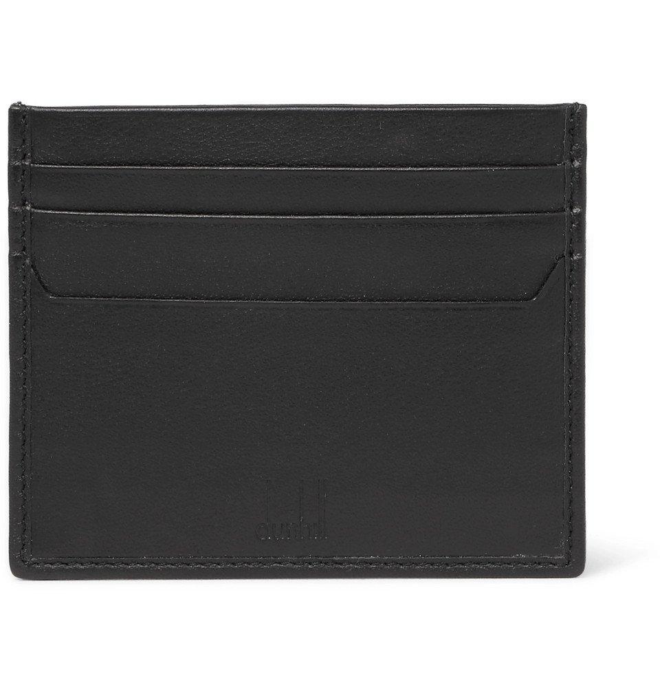 Dunhill - Hampstead Leather Cardholder - Men - Black