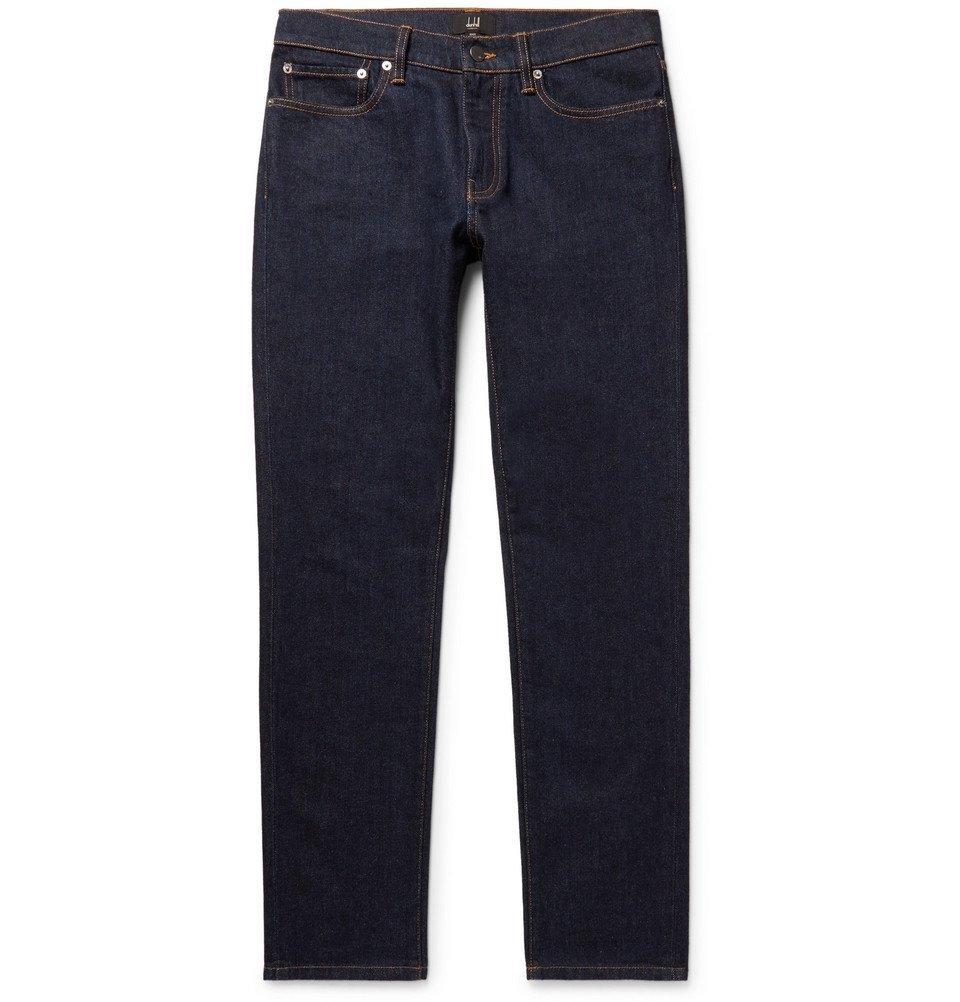 Dunhill - Slim-Fit Denim Jeans - Men - Dark denim