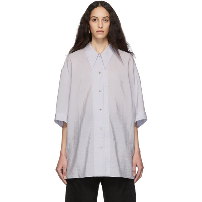 Lemaire Purple Dry Silk Maxi Shirt