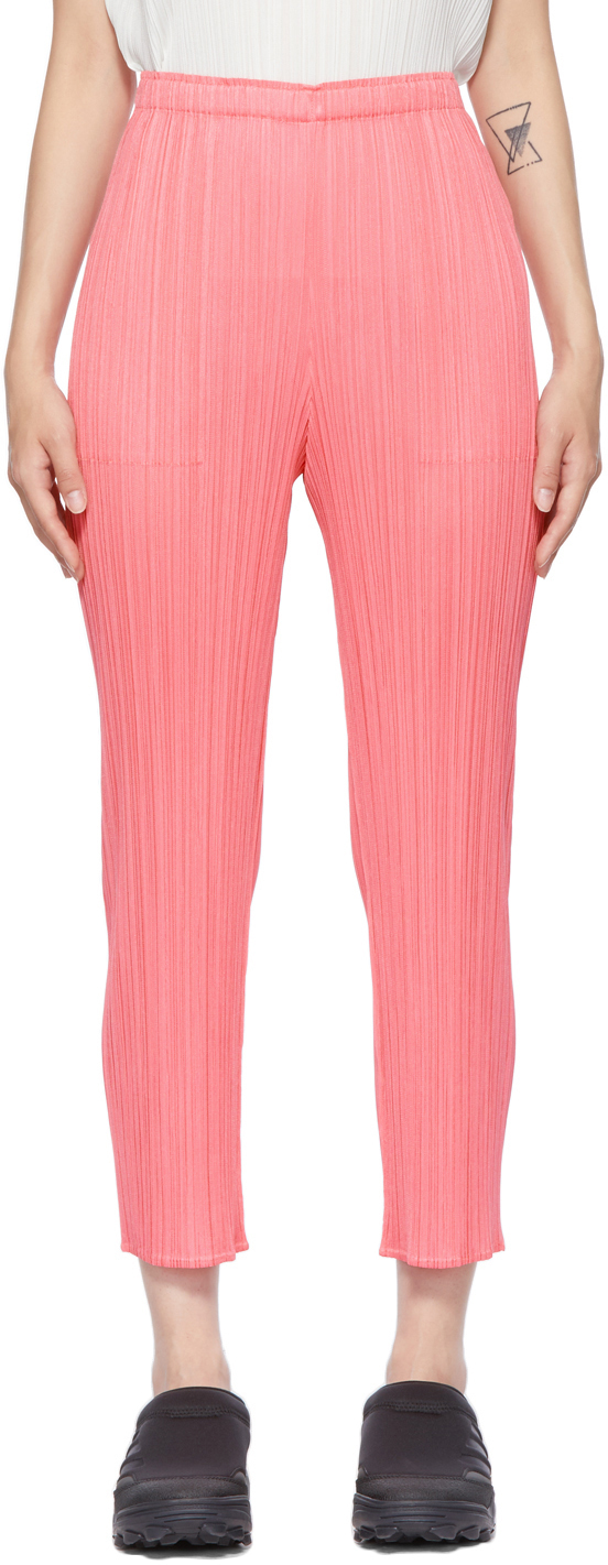 Photo: Pleats Please Issey Miyake Pink Bouquet Colors Trousers