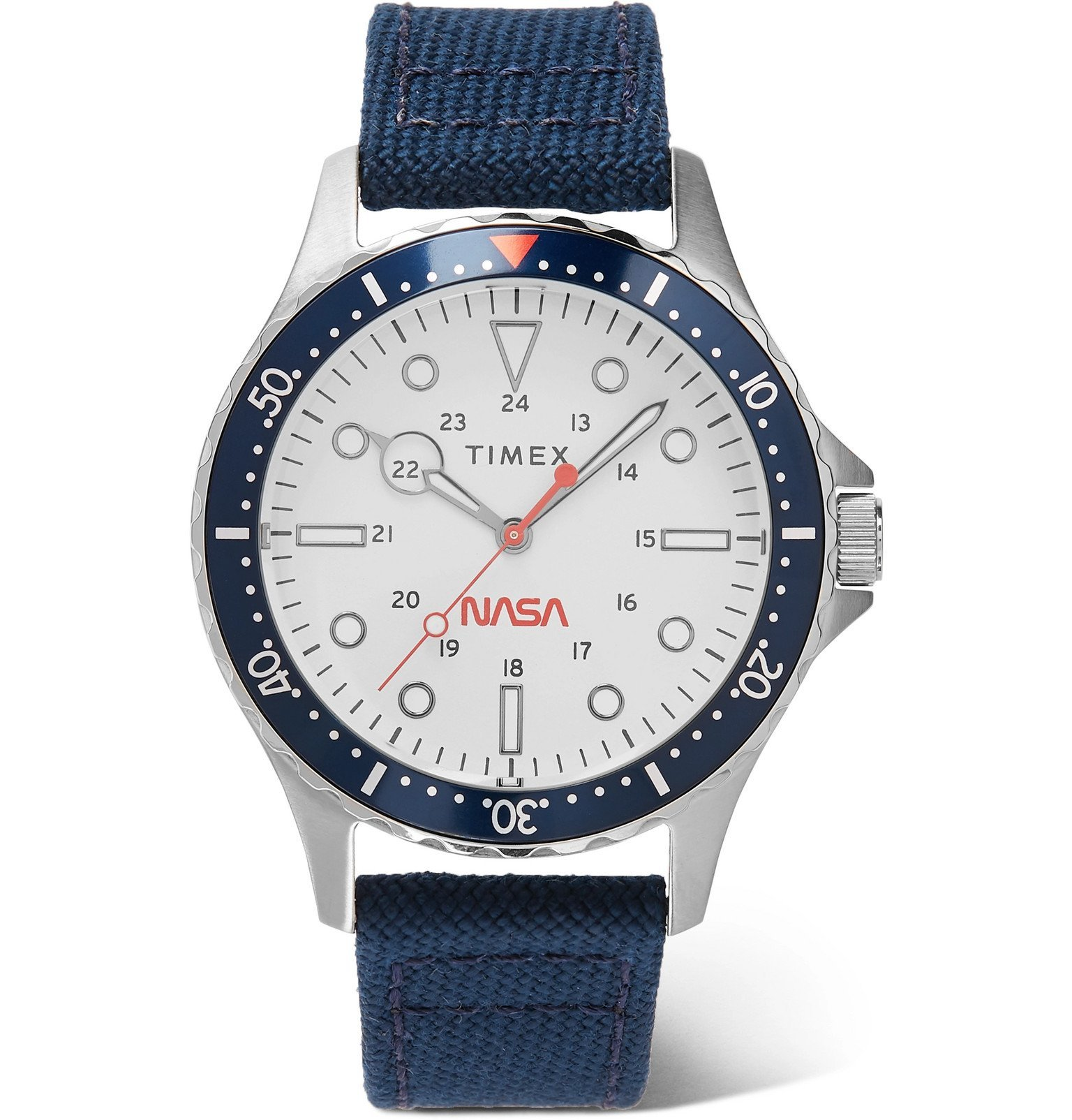 Photo: Timex - NASA Navi XL 41mm Stainless Steel and Canvas Watch - White