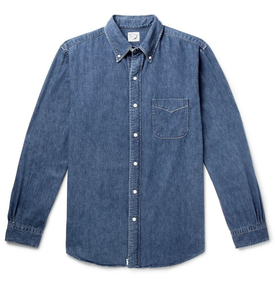 Photo: OrSlow - Button-Down Collar Denim Shirt - Blue