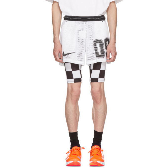 Photo: NikeLab White Off-White Edition M NRG Carbon Away Shorts