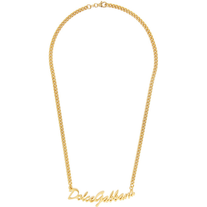 Photo: Dolce and Gabbana Gold Logo Necklace
