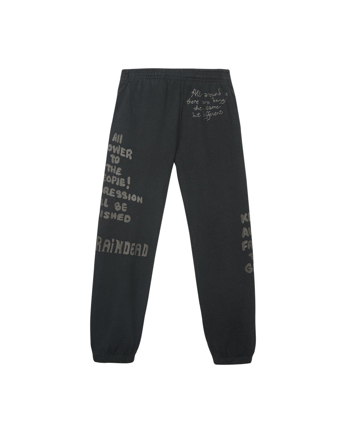 Photo: Brain Dead Tonal Type Print Sweatpants Black