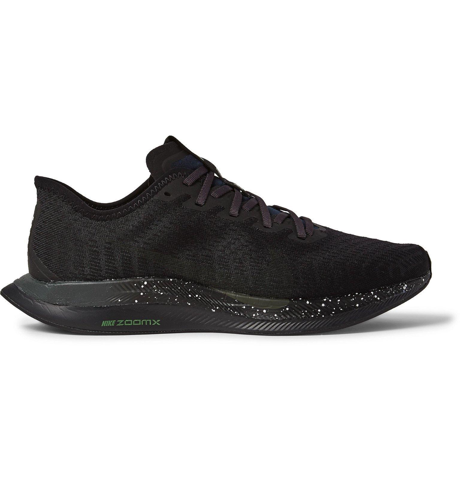 Nike Running - Zoom Pegasus Turbo 2 Mesh Running Sneakers - Black