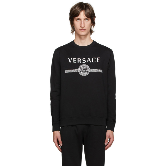 Photo: Versace Black Medusa Logo Sweatshirt