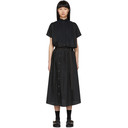 Sacai Black Cut-Out Shirt Dress