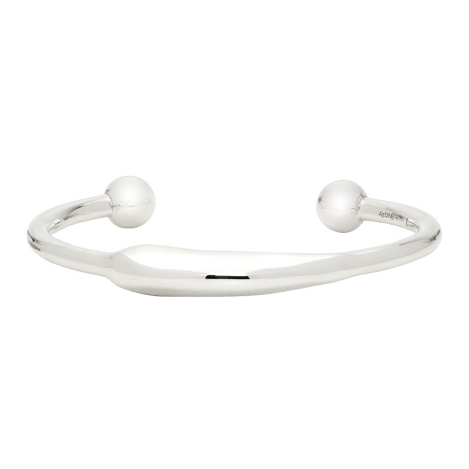 Photo: Bottega Veneta Silver Mold Bracelet