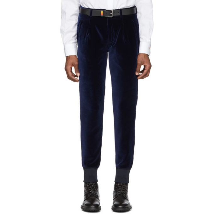 Photo: Paul Smith Navy Velvet Jogger Trousers