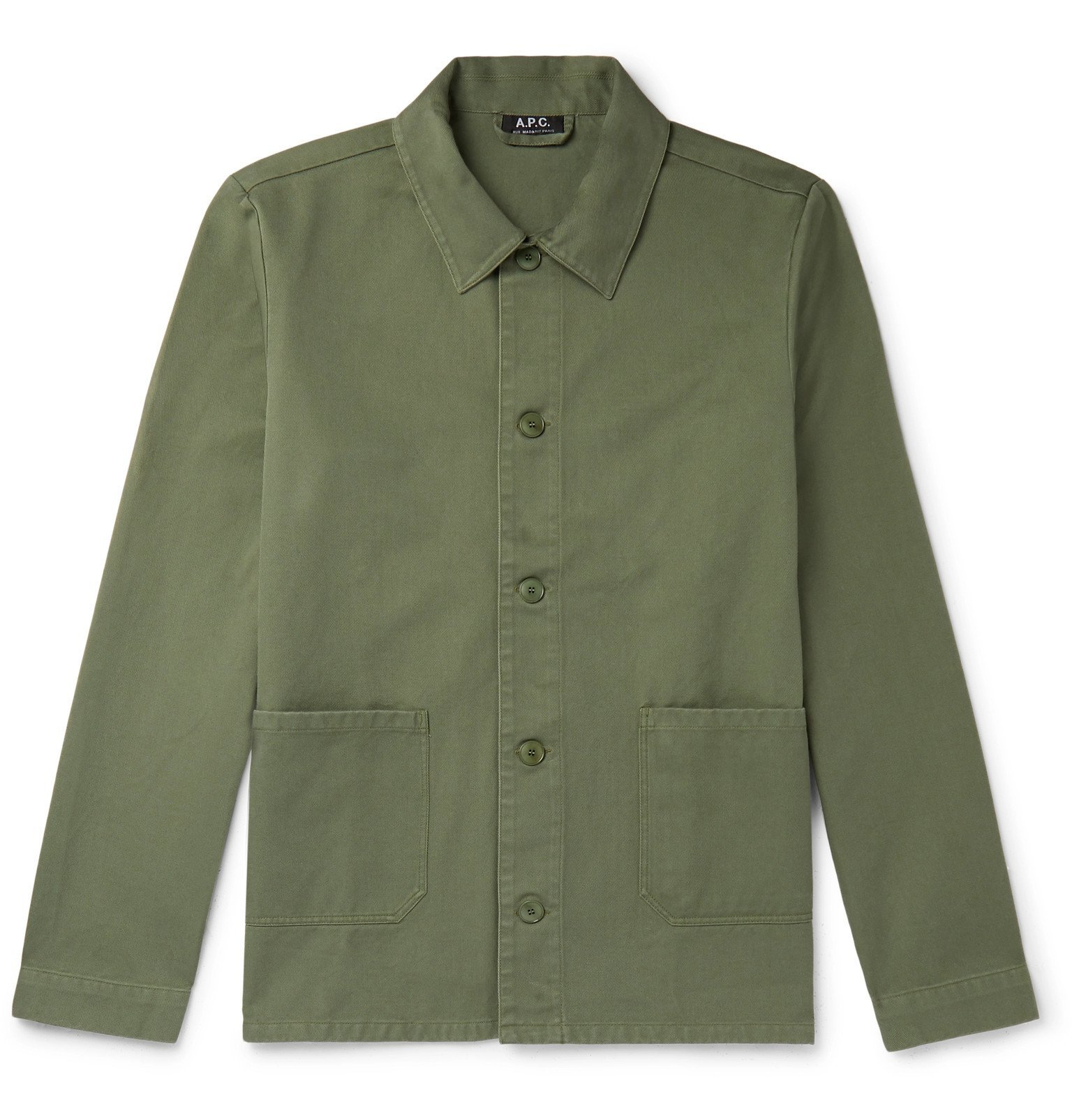 Photo: A.P.C. - Kerlouan Cotton-Gabardine Jacket - Green