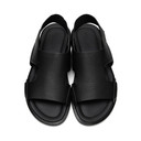Giorgio Armani Black Calfskin Adria Sandals