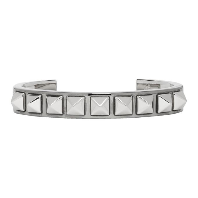 Photo: Valentino Silver Valentino Garavani Cuff Stud Bracelet