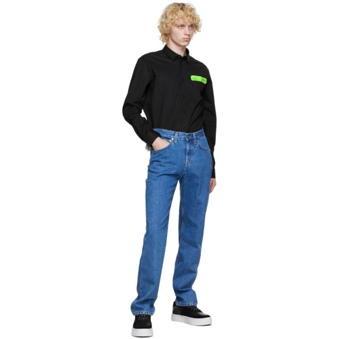 Versace Jeans Couture Black Poplin Shirt