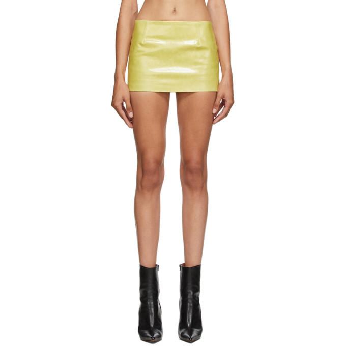 Photo: Mowalola Yellow Leather Miniskirt