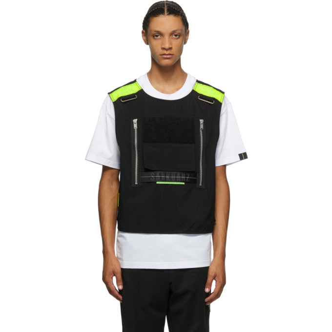 Photo: Sankuanz White and Black Vest T-Shirt
